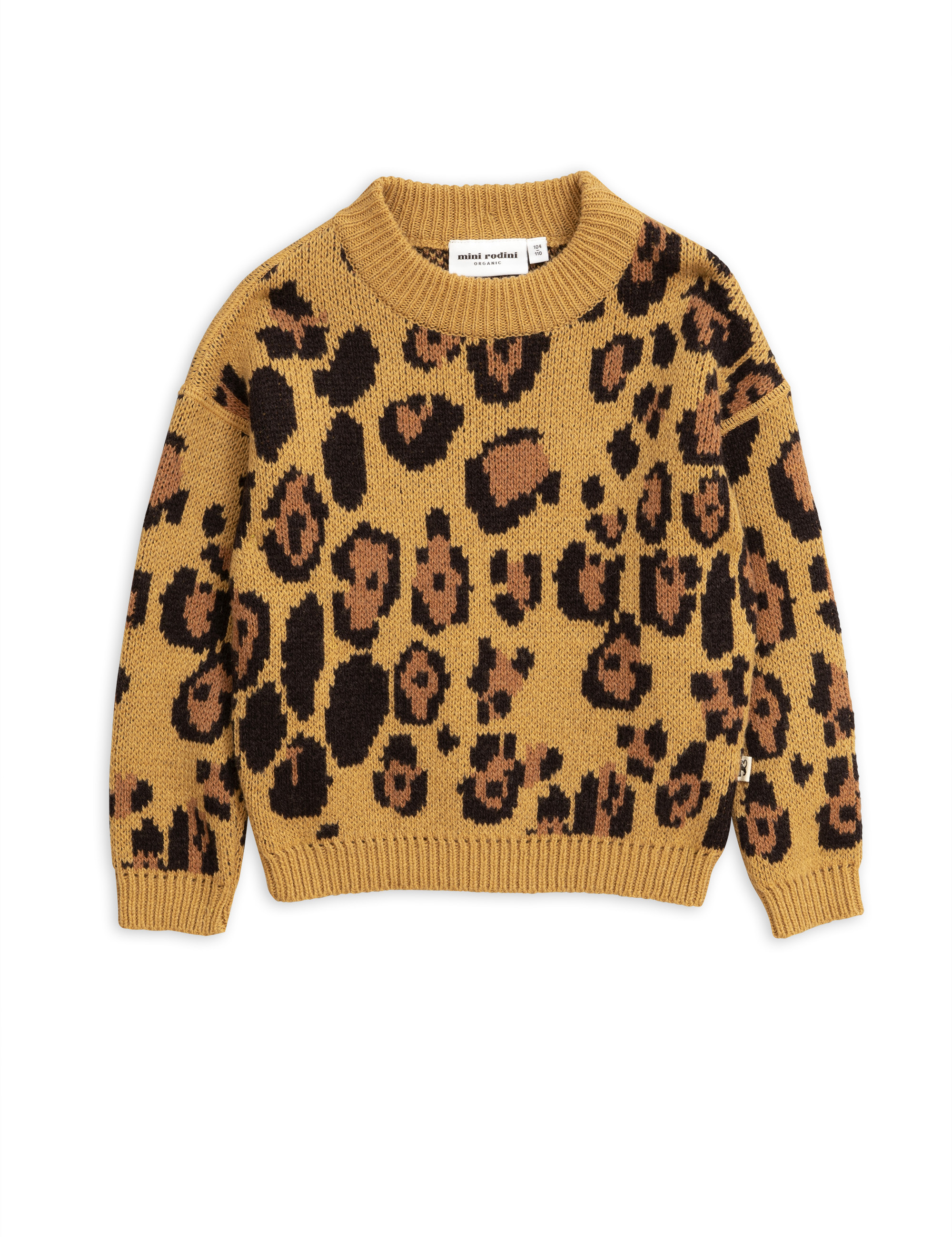 Mini Rodini - Leo knitted sweater brown