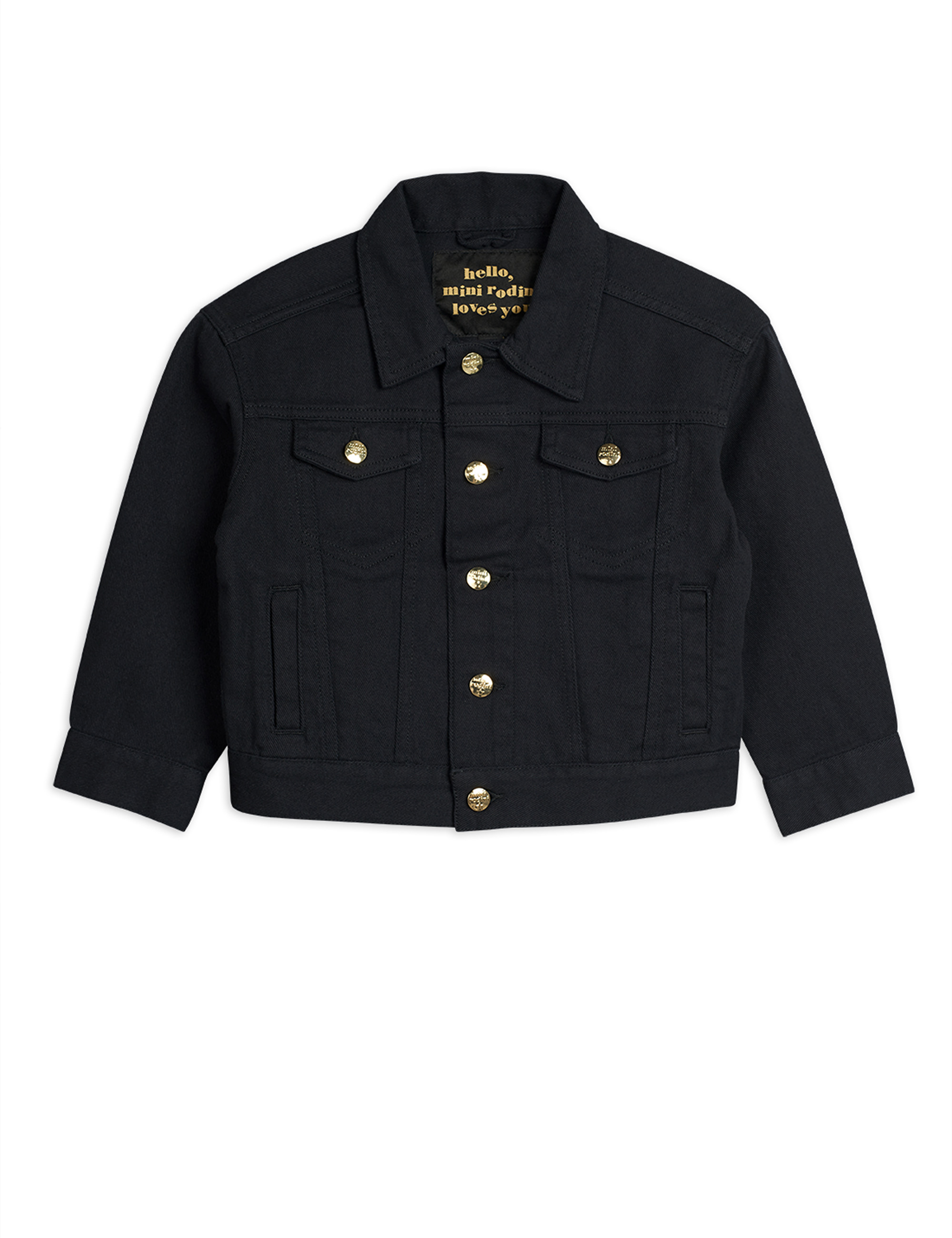Mini Rodini - Denim twill leopard jacket black