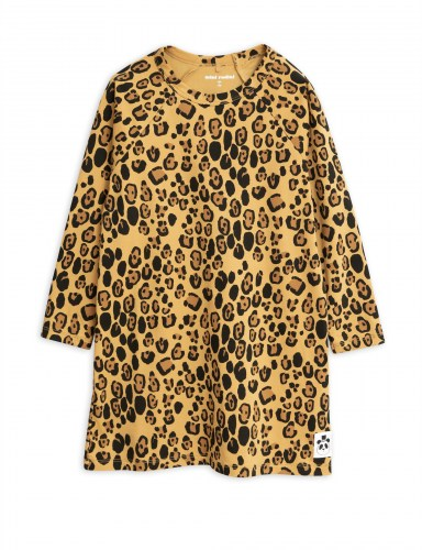 Mini Rodini - Basic leopard ls dress beige