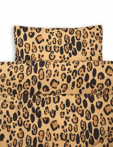 Mini Rodini - Leopard bed set baby