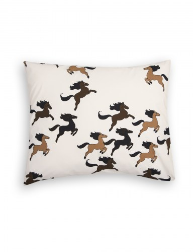 Mini Rodini - Horse pillowcase beige