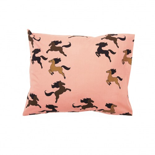 Mini Rodini - Horse pillowcase pink