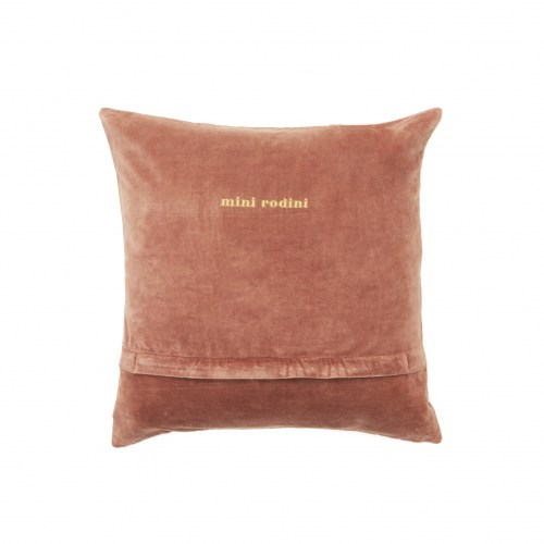Mini Rodini - Horse velvet cushion pink
