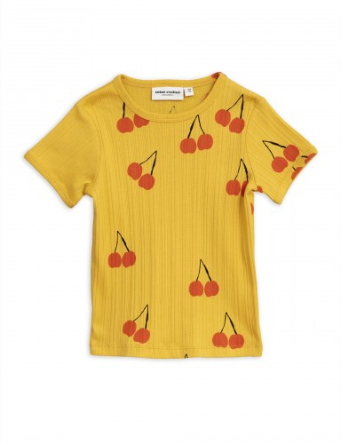 Mini Rodini - Cherry ss tee yellow
