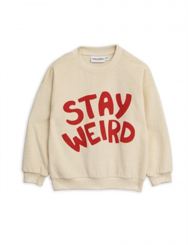Mini Rodini - Stay weird sp terry sweatshirt off-white
