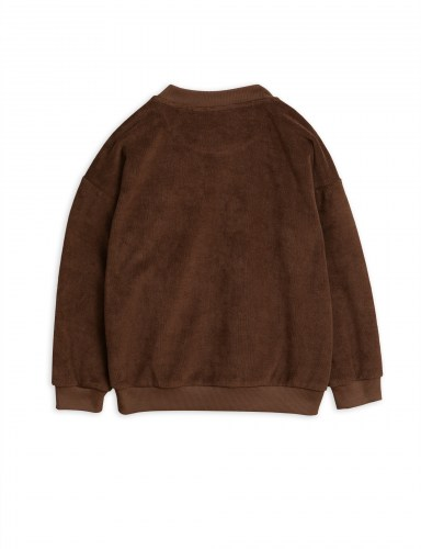 Mini Rodini - Stay weird sp terry sweatshirt brown