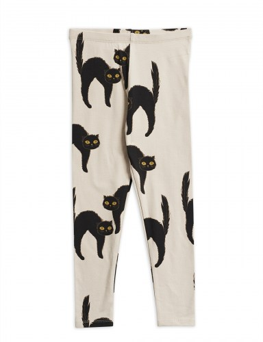 Mini Rodini - Catz leggings Light grey