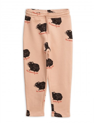 Mini Rodini - Guinea pig sweatpants pink