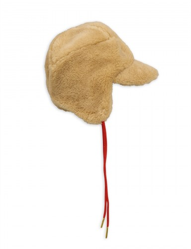 Mini Rodini - Faux fur cap beige