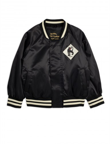 Mini Rodini - Panther baseball jacket black