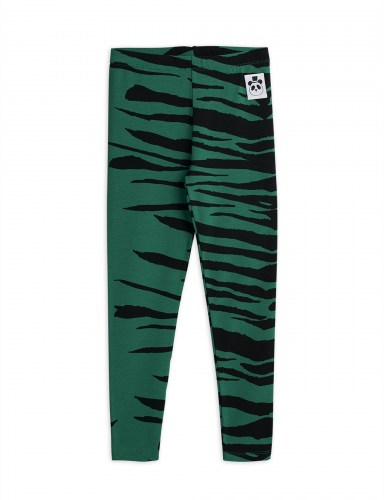 Mini Rodini - Tiger leggings green