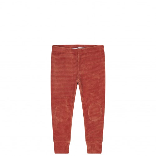 Mingo - Velvet rib legging red wood
