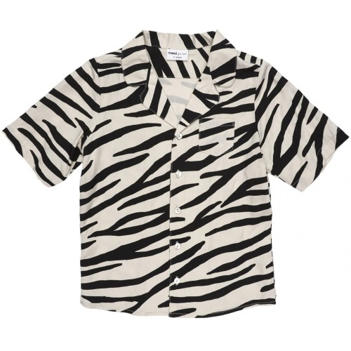 Maed for mini - Smiling zebra blouse