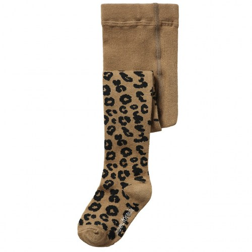 Maed for mini - Brown leopard tights