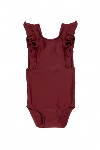 Maed for mini - Bordeaux badger swimsuit